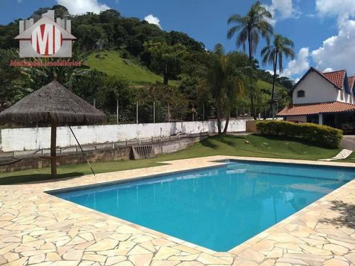 Imagem 1 de 30 de Linda Chácara Com 5 Dormitórios, Piscina, Excelente Localização, Vista Deslumbrante, À Venda, 8300 M² Por R$ 780.000 - Rural - Socorro/sp - Ch0359