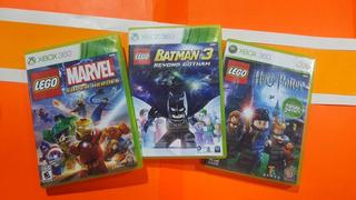 Lego Marvel + Lego Harry Potter 1 - 4 + Lego Batman 3 360