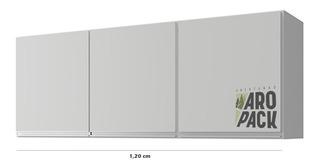 Alacena Organizador Blanca Cocina 120 Cm 3 Puertas