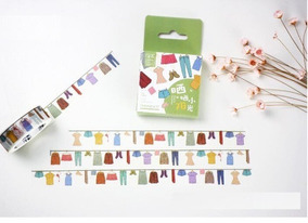 Washi Tape Fita Decorativa Roupa Varal