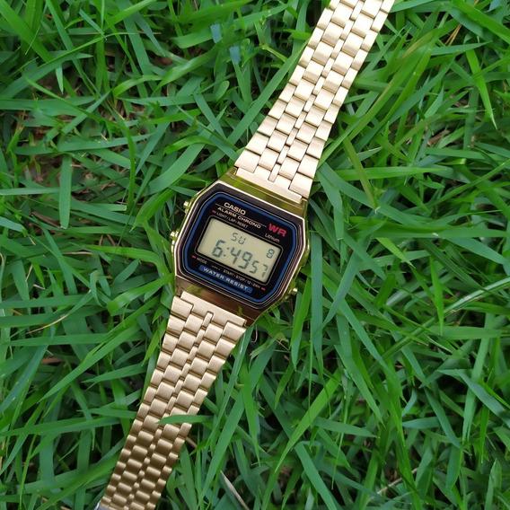 Relógio Casio Original A159wgea-1 Vintage Dourado C/ Nf