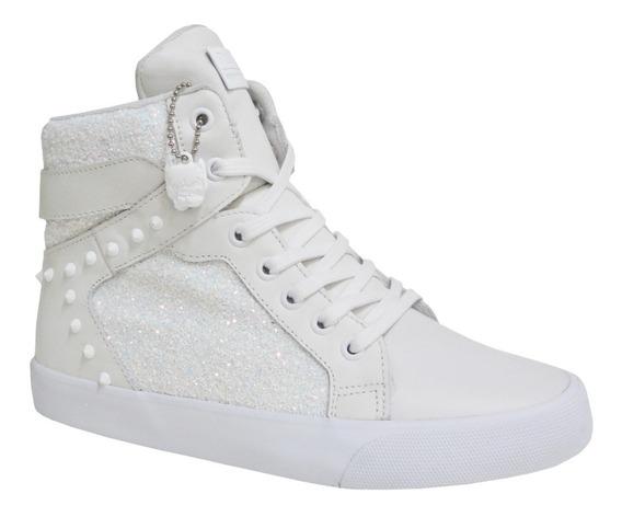 Tênis Feminino Pit Bull Pitbull Pitbul Jeans 92008 Branco
