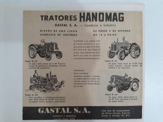 Propaganda Antiga Tratores Hanomag Publicidade Anúncio Raro