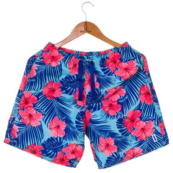 Short Masculino Praia Floral Azul 2019
