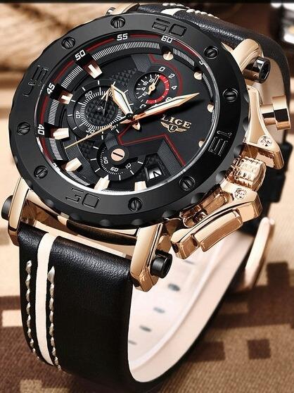 Relógio Masculino Lige Top Da Marca Com Várias Característic
