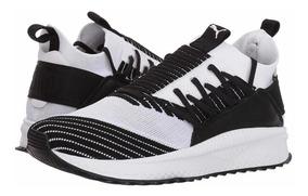Tenis Puma Unisex 24.5 Cm Negro Blanco Running Original