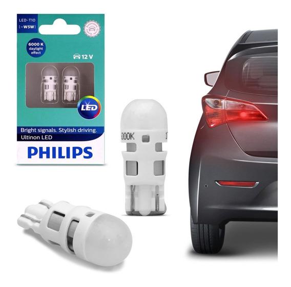Lampada Philips Pingo Ultinon Led 6000k W5w T10 Super Branca
