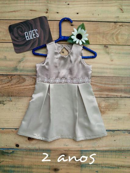 Vestido Infantil Com Renda Roupa Infantil De Menina