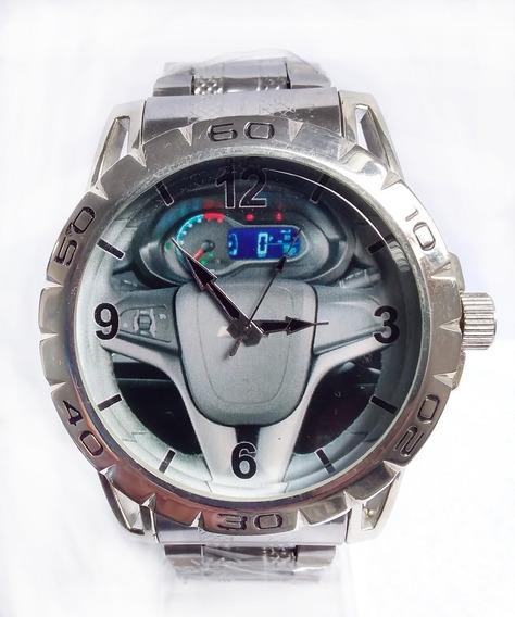 Relógio Pulso Personalizado Foto Volante Painel Onix