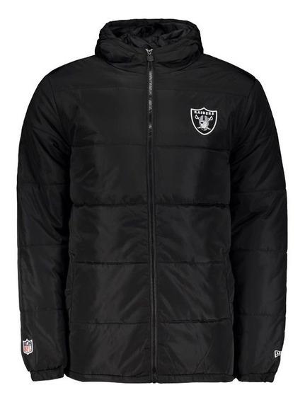 Jaqueta New Era Nfl Oakland Raiders Versatile Sport Preta