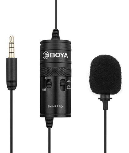 Imagen 1 de 7 de Microfono Boya By M1 Pro Corbatero Con Salida De Auriculares