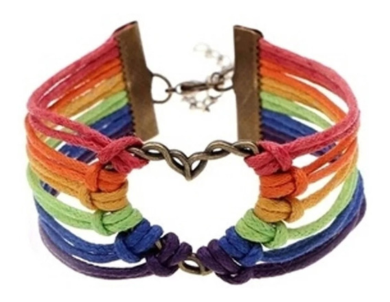 Pulsera Corazón Bandera Orgullo Gay Lgtb Lesbiana Pareja