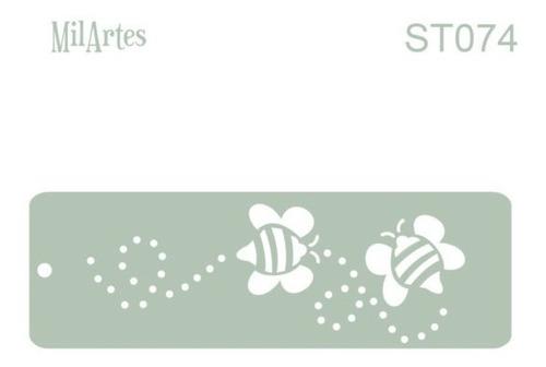 Mil Artes - Stencil Bebé Abejitas 4,50 X 14,50cm - St74