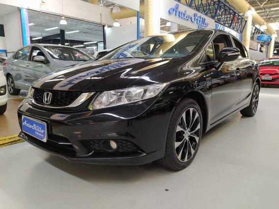Honda Civic 2.0 Flex Lxr Preto 2015 (automático + Couro)