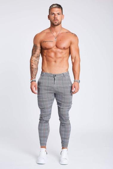 Pantalon Legend London, Stretch Con Cinta Lateral Blanca
