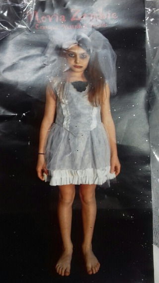 Disfraz Novia Asesina, Zombie Niñas Halloween Chirimbolos