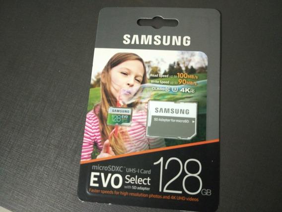 Micro Sd Samsung Evo Select 128gb 100mb/s U3 4k Original