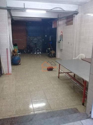Imagem 1 de 10 de Salão Para Alugar, 98 M² Por R$ 2.400,00/mês - Cidade Satélite Santa Bárbara - São Paulo/sp - Sl0014