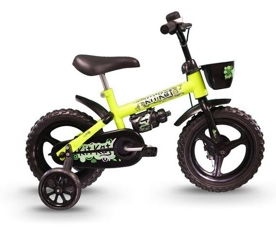 Bicicleta Track Kit Kat Infantil Aro 12 Com Capacete