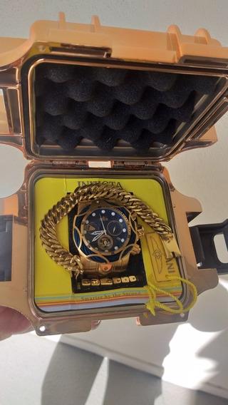 Relógio Invicta Original Banhando 18k