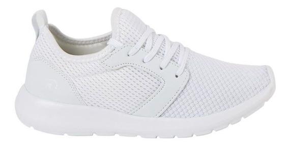 Tenis Dama Running Blancos Pink Sport Comodos Entrena Moda