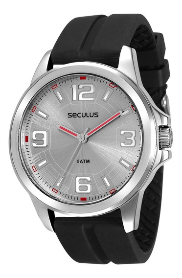 Relógio Seculus Masculino Analógico Preto 28835g0svnu1