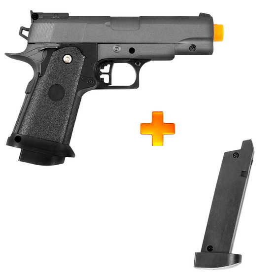 Pistola De Airsoft Spring G10 Full Metal 6mm - Galaxy + 1 Ma