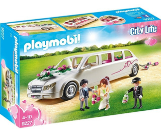 Playmobil 9227 Boda Limusina Nupcial Con Novios Orig Intek