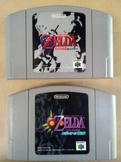 Zelda Ocarina + Zelda Majoras Mask Para Nintendo 64.