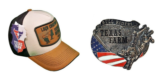 Kit Texas Farm Laço Comprido Junto Com Fivela