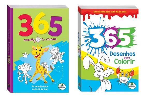 Kit 365 Desenhos! 730 Ilustrações Para Pintar.