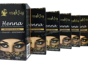 Henna Para Sobrancelhas Makiaj Profissional - 13 Unidades