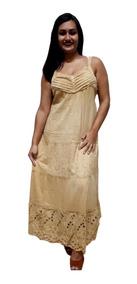 Vestido Longo Alça Indiano Tie Die Algodão Lesi 809