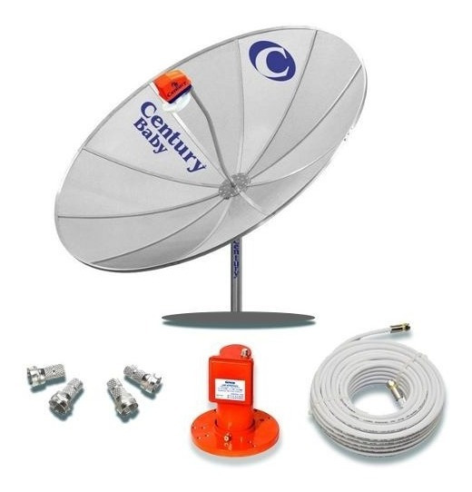 Kit Antena Parabólica Century Md150 + Cabo + Lnb + Conector