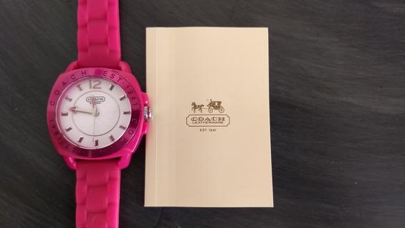 Relógio Feminino Autêntico Importado Da Marca Coach . Pink D