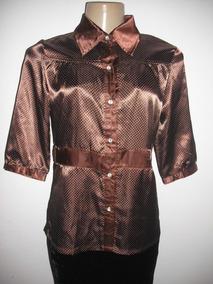 736cc4853e Blusa Em Cetim Poa Modelo - Camisetas e Blusas no Mercado Livre Brasil
