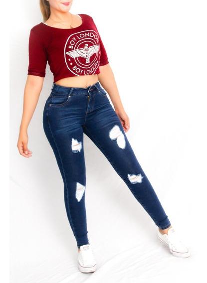 Pantalon Stretch Dama Rasgados Mercadolibre Com Mx