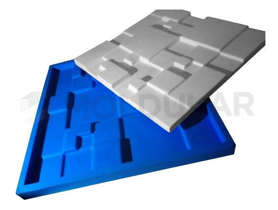 Forma Para Gesso 3d - 100% Silicone - Mosaico Liso