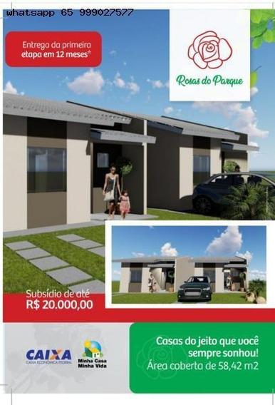 Casa Para Venda Em Várzea Grande, Paiaguas, 2 Dormitórios, 1 Banheiro, 2 Vagas - 190_1-1293037