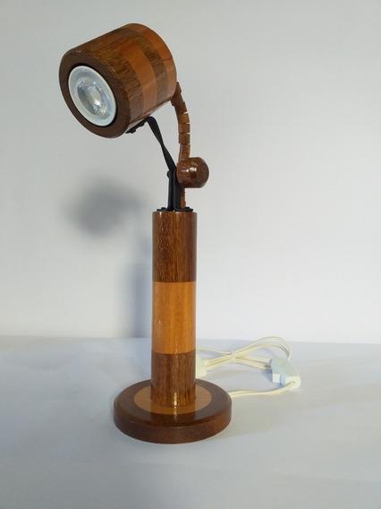 Luminária Artesanal De Mesa Ajustável Escritório Estudos