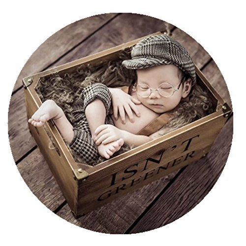 Coberllus Newborn Monthly Baby Photo Props Stripe Cool Boys Cap Rompers Photogra