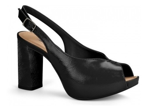 Peep Toe Sapato Salto Grosso Feminino Dakota Colonelli G1341