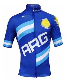 Remera Argentina Ciclista Zr3 Jersey Ciclismo Nitro Bikes