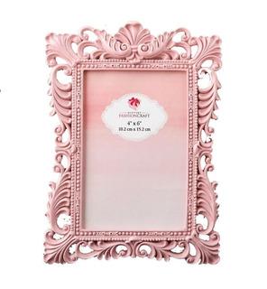 Portaretrato Para Regalo Estio Vintage Color Rosa Baby Showe