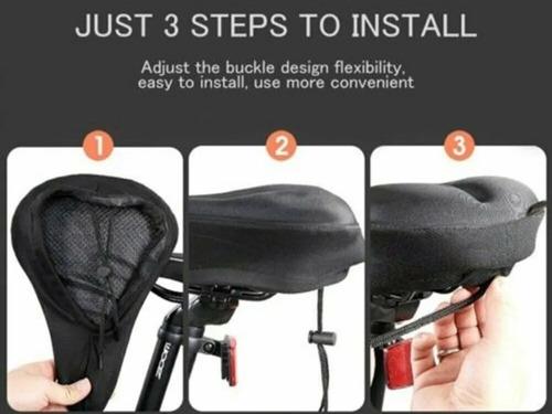 Asiento Gel Bicicleta Forro Cobertor Impermiable