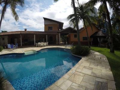 Casa Isolada Com Piscina 4 Dormitórios Para Alugar, 257 M² Por R$ 6.500/mês - Canto Do Forte - Praia Grande/sp - Ca0413