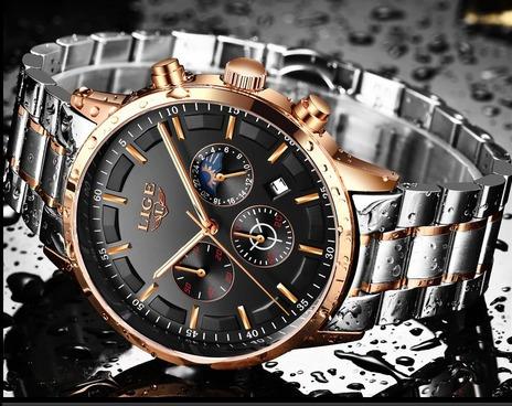 Relógio Masculino Esporte Casual Luxo - Promoção