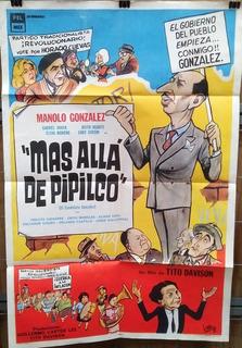 Afiche Original Película Mas Alla De Pipilco 1965