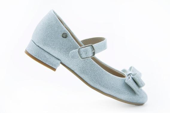 Zapatos Escolar Niña Chabelo 88501 5- B Plata 100% Original