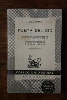 Libro Poema Del Cid. Coleccion Austral